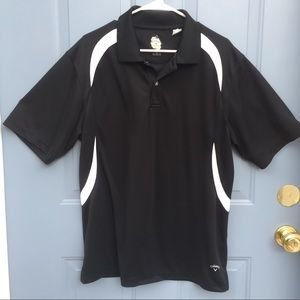 Callaway X Series polo shirt, black and white